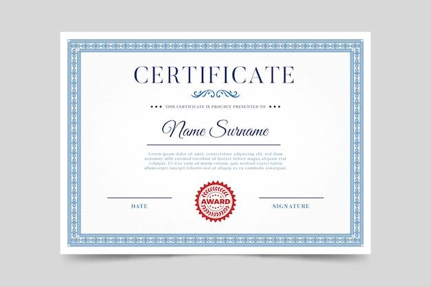 Elegancki szablon certyfikatu