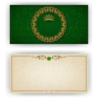 Elegancki szablon dla luksusowego zaproszenia vip