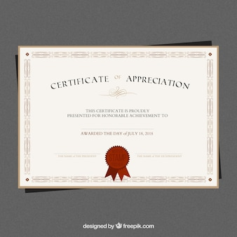Elegancki szablon dyplomu
