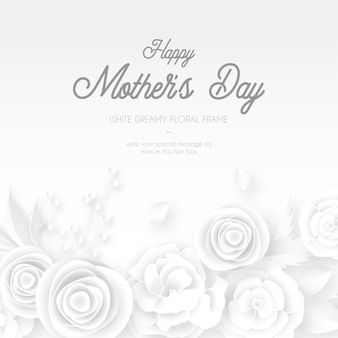 Elegancki szablon karty dzień matki