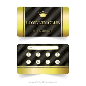 Elegancki szablon karty lojalnościowej ze złotym stylu