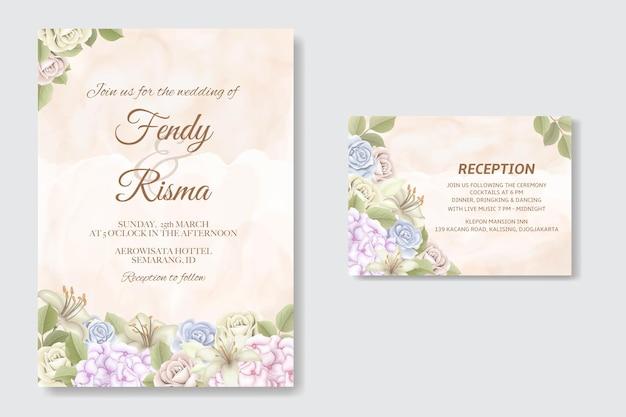 Elegancki szablon karty ślubu