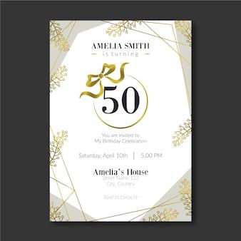 Elegancki szablon karty urodzinowej