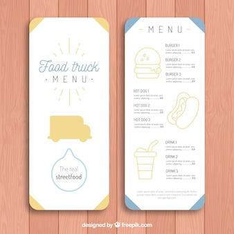 Elegancki szablon menu menu żywnościowego