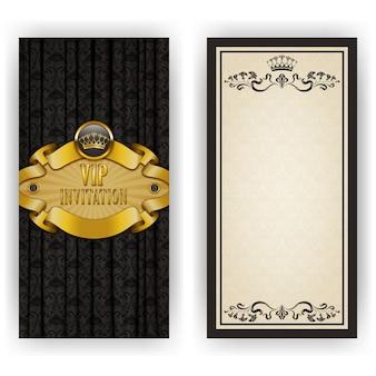 Elegancki szablon na luksusowe zaproszenie vip