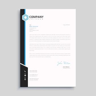 Elegancki szablon papieru firmowego w minimalistycznym stylu
