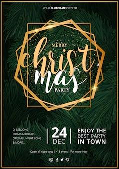 Elegancki szablon plakatu świątecznego