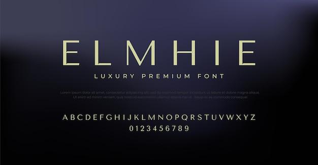 Elegancki szablon projektu alfabetu