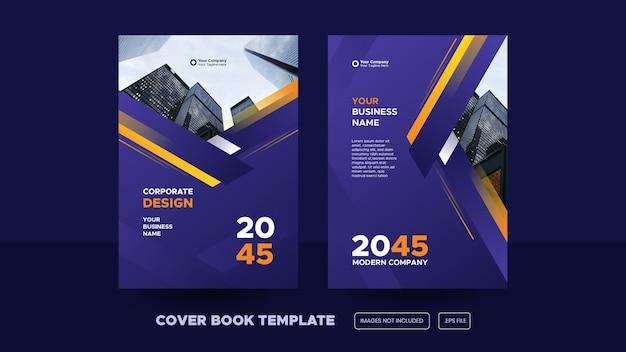 Elegancki szablon projektu okładki książki korporacyjnej premium eps