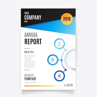 Elegancki szablon raportu rocznego firmy