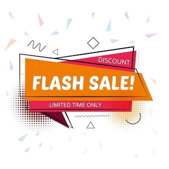 Elegancki szablon tło sprzedaż flash