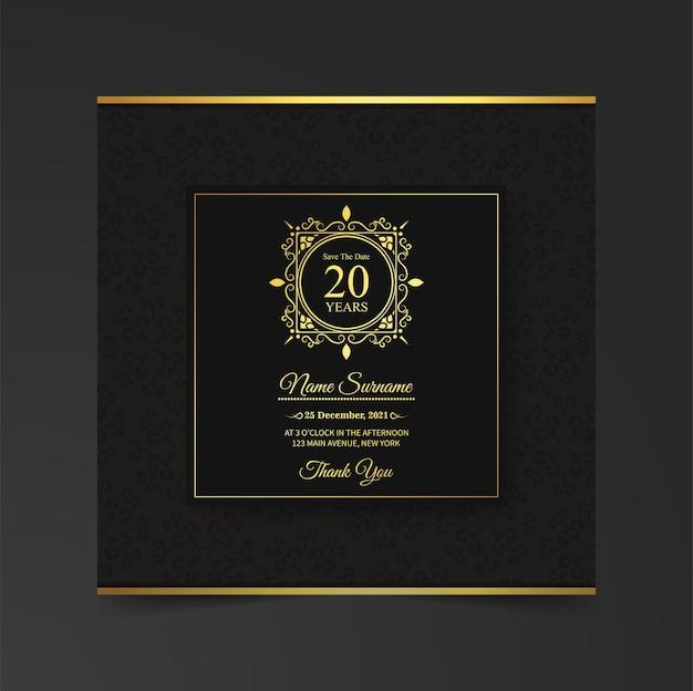 Elegancki szablon zaproszenia karty urodziny