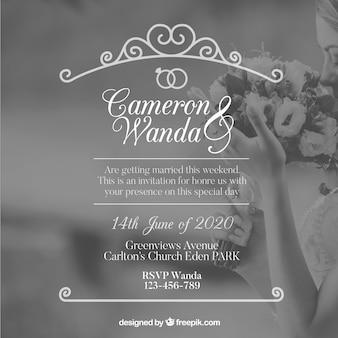 Elegancki szablon zaproszenia na wesela