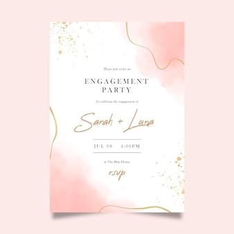 Elegancki szablon zaproszenia na zaręczyny