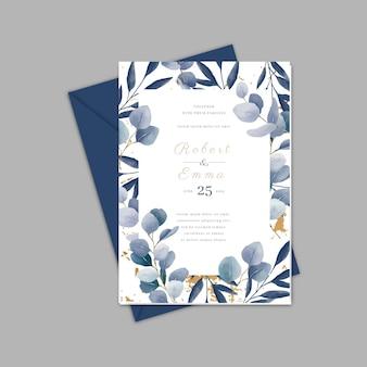 Elegancki szablon zaproszenia ślubnego wedding