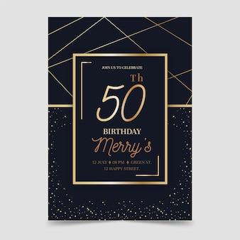 Elegancki szablon zaproszenia urodzinowe