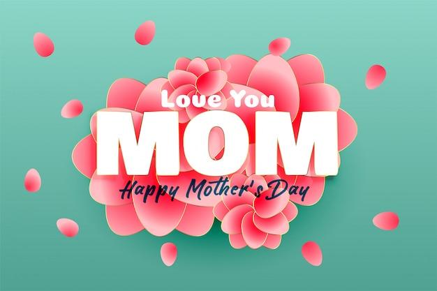 Elegancki szczęśliwy dzień matki tło