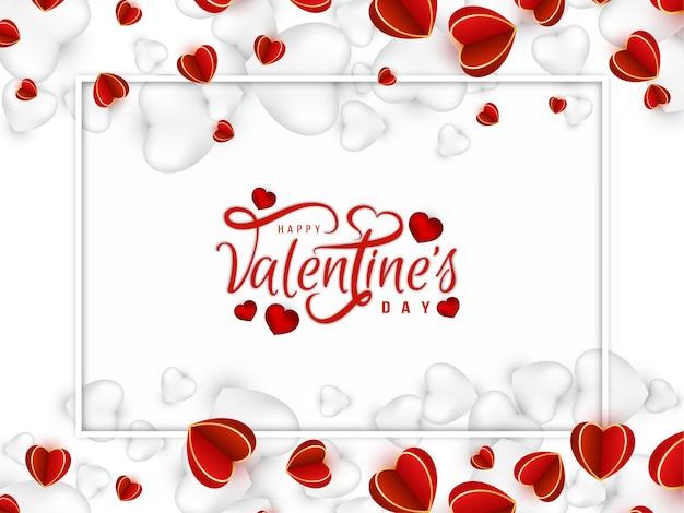 Elegancki szczęśliwy tło valentine's day