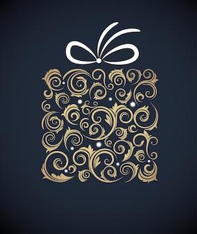 Elegancki tło boże narodzenie z pudełko. ilustracja