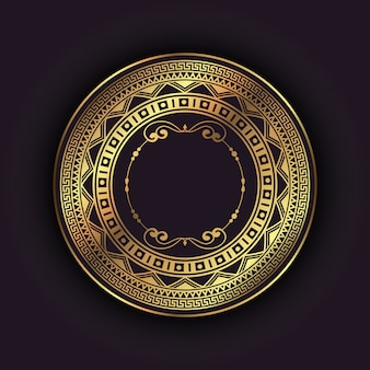 Elegancki tło z złotą okrągłą ramą