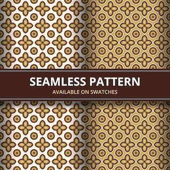Elegancki tradycyjny batik bezszwowe tło wzór. luksusowy i klasyczny motyw tapety tło.