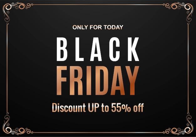 Elegancki transparent sprzedaży w czarny piątek
