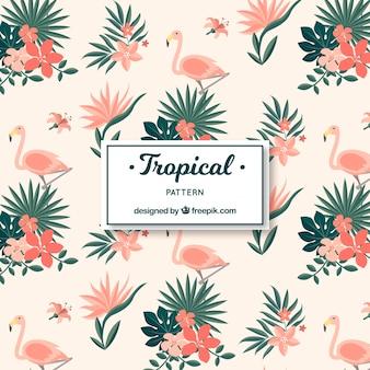 Elegancki tropikalny wzór w stylu vintage