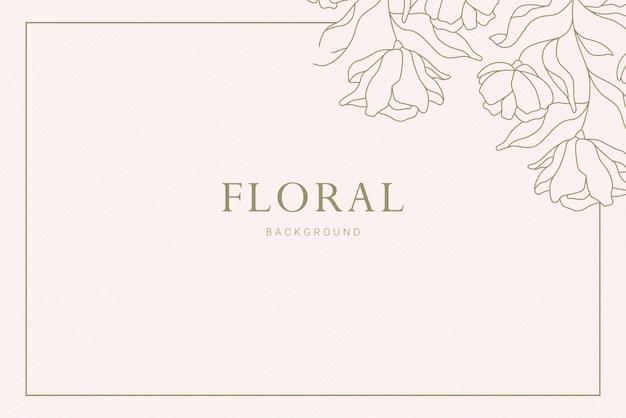 Elegancki vintage corner kwiatowy roślina liść ręcznie rysowane ilustracja transparent tło