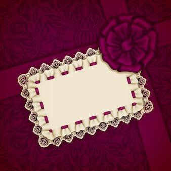 Elegancki wektor szablon na luksusowe zaproszenie