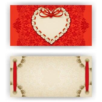 Elegancki wektorowy szablon dla luksusowego zaproszenia