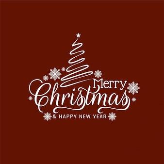 Elegancki wesołych świąt bożego narodzenia pozdrowienia tekst tło