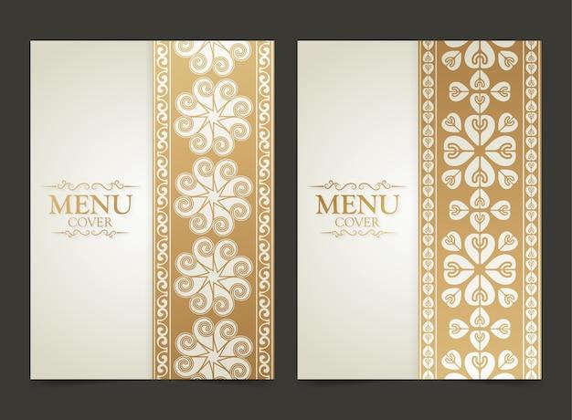 Elegancki wygląd okładki menu