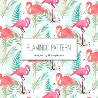 Elegancki wzór flamingo