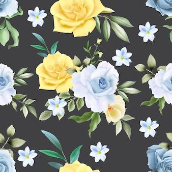 Elegancki wzór kwiatowy wzór