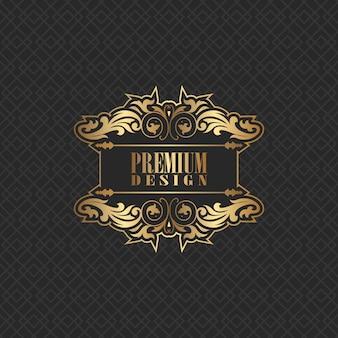 Elegancki wzór tła z logo premium