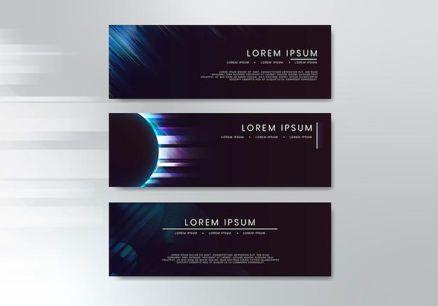 Elegancki zestaw banerów internetowych