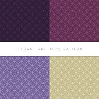 Elegancki zestaw edytowalnych wzorów w stylu art deco