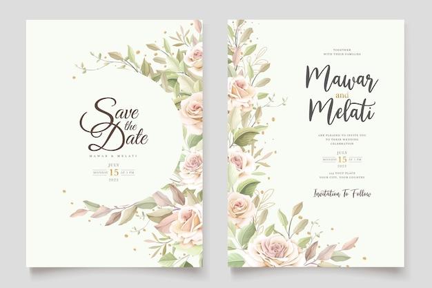 Elegancki zestaw kart z zaproszeniem na róże