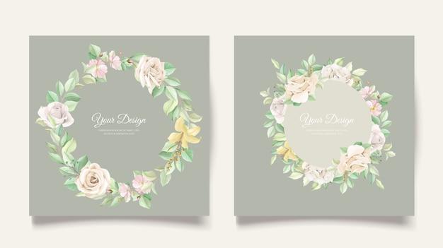 Elegancki zestaw kart zaproszenie na ślub