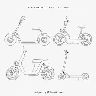 Elegancki zestaw skuterów elektrycznych