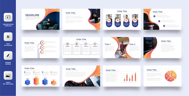 Elegancki zestaw szablonów prezentacji biznesowych