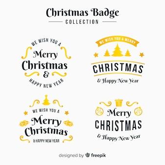 Elegancki zestaw złotych christmas etykiet