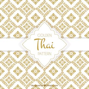 Elegancki złoty tajski wzór