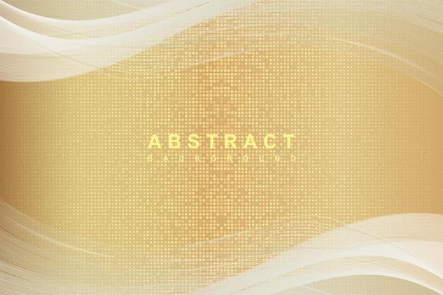 Eleganckie abstrakcyjne złote tło z błyszczącymi elementami w kremowym odcieniu