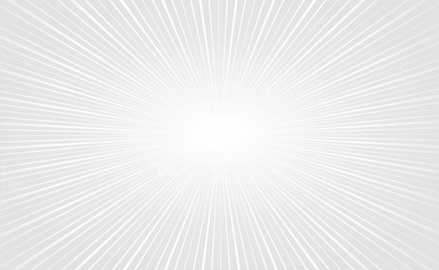 Eleganckie białe promienie zoom puste tło