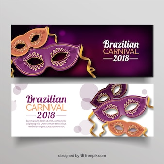 Eleganckie brazylijskie karnawałowe banery