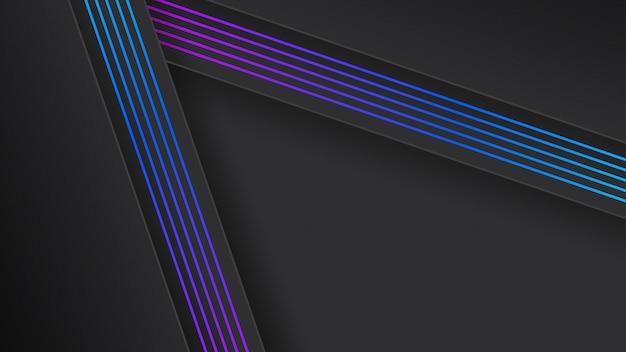 Eleganckie ciemne tło z linii gradientu niebieski fioletowy