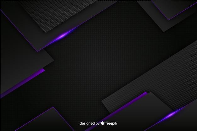 Eleganckie ciemne tło z wielokątnymi kształtami