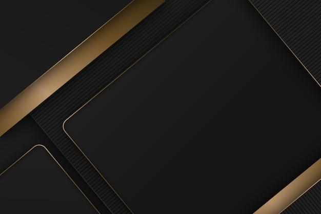 Eleganckie ciemne tło ze złotymi detalami