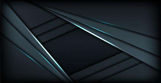 Eleganckie ciemnoniebieskie tło wielokąta z nakładającymi się warstwami